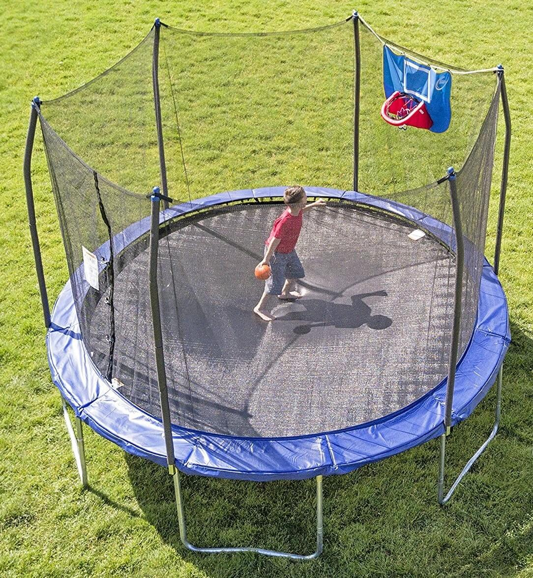 Skywalker 12 Ft. Jump N' Dunk with Safety enclosure and Basketball Hoop
