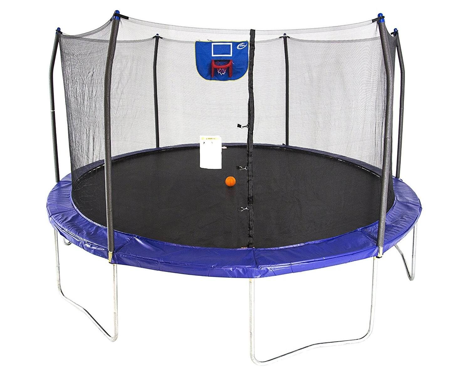 Skywalker 15 Ft. Jump N' Dunk with Safety Enclosure and Basketball Hoop