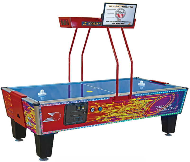 Gold Standard Gold Flare Coin-Op Air Hockey Table