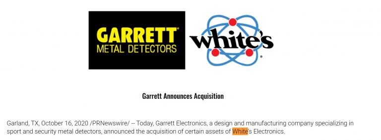 Garrett White's acquisition